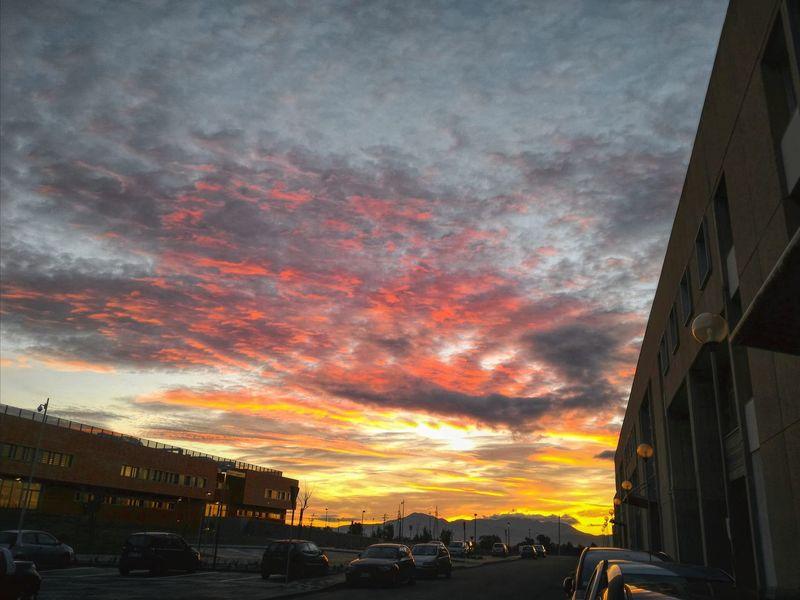 Tramonto Sunset Puestadesol Sky Skyporn Cielo Cagliari Cittadella Colors