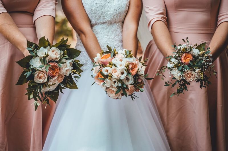 Wedding Hands Woman Hand Wedding Bouquet EyeEm Selects Flowering Plant Flower Women Adult Plant Event Celebration Wedding Bouquet Bride Newlywed Flower Arrangement Group Of People People Human Body Part Wedding Dress Hand Nature