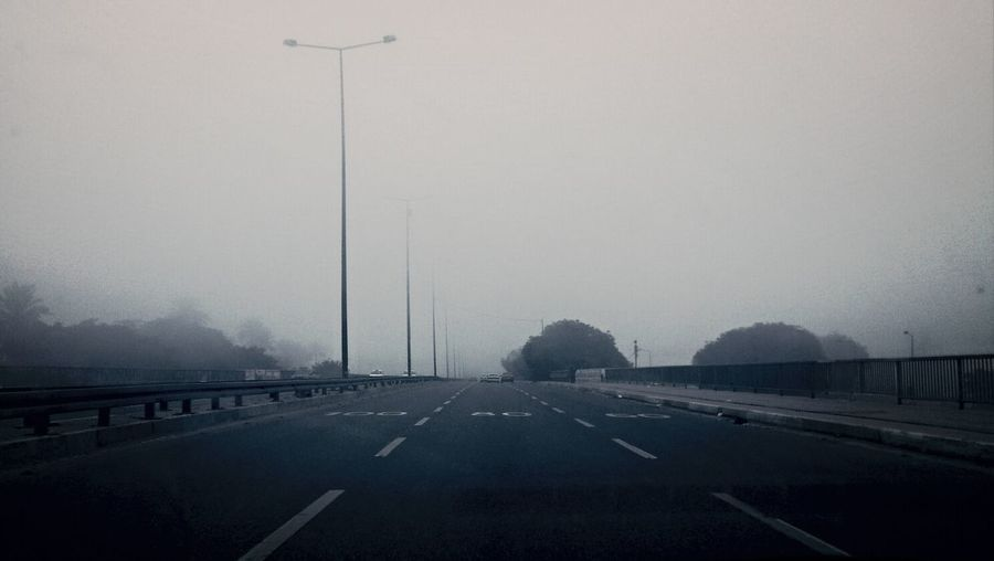 Road Fog Outside Foggy Morning