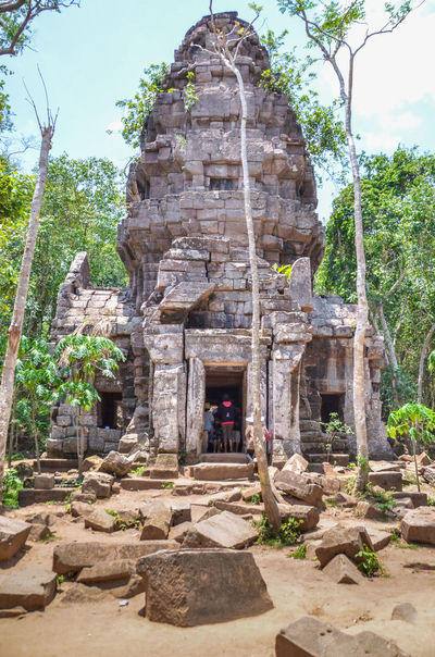 Cambodian–Thai border dispute Ancient Architecture Built Structure Castle Day Deterioration History Nature Old Outdoors Plant Rock - Object Rock Formation Ruined Stone Stone Material Stone Wall Ta Krabei Temple The Past The Way Forward Tranquility Travel Destinations Tree Baphuon