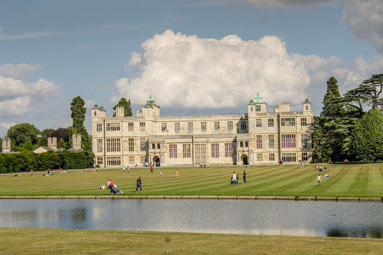Architecture Built Structure Building Exterior Travel Destinations Cloud - Sky Large Group Of People Façade History Grass Tree Park - Man Made Space Day Sky Outdoors Statue People City Audley End Grass Tree Water Surface Sculpture Adult Crowd