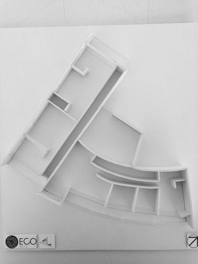 Apartment Buildings Architecture Architecture Model Maqueta ECO - MIX USE BUILDING APARTMENTS DISTRIBUTION