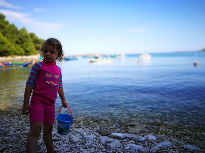 Beach Girl Croatia Prementura Girl Childhood Summer Sea