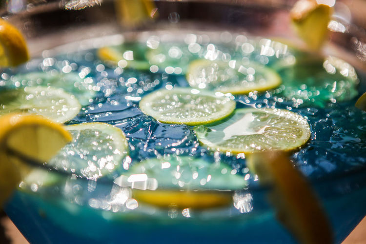 Close-up of lemonade