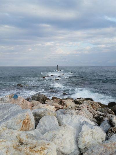 Ocean Sea And Sky Seascape Waves, Ocean, Nature Waves Crashing Cloud Stones & Water Aground