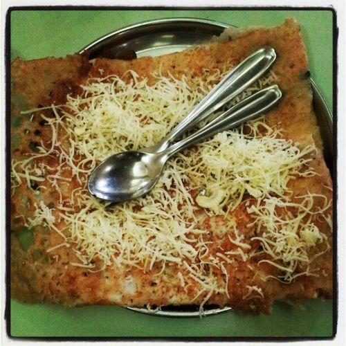 Cheese Rava Sada Dosa. India Lunch Foodporn Yummy instachill swag photooftheday food