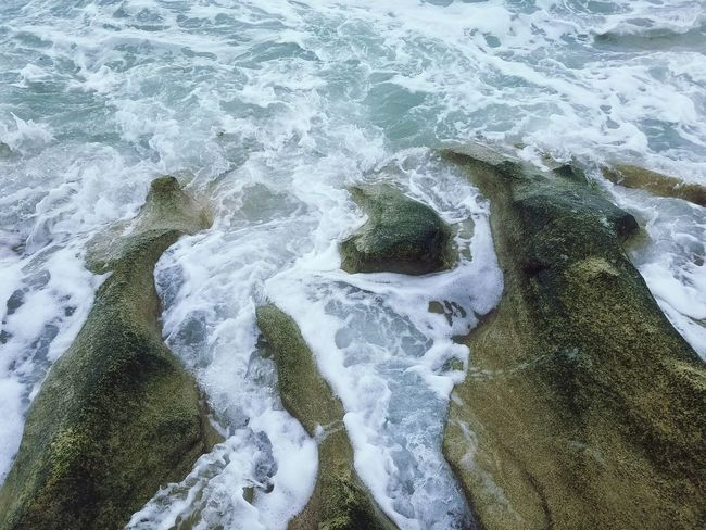 Blowing Rocks Preserve Seascape Rock - Object Rock Formation Waves, Ocean, Nature Waves Crashing Waves And Rocks Water Wave Beach Sea Sand High Angle View Full Frame Close-up Rushing Power In Nature Rocky Coastline Tide Pebble Beach