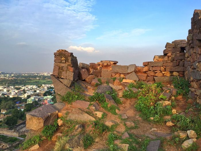 Golcondar Fort Historical Building India Traveling