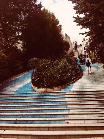 People Day Up High France 🇫🇷 Blue Blois Historical Site Rendez Vous De L'histoire EyeEmNewHere