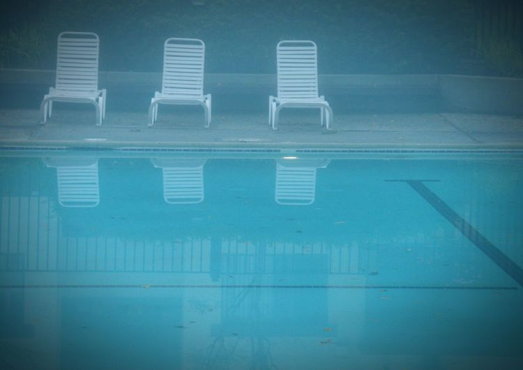 Swimming Pool Swimming Morning Fog... Morning Fog Fog Foggy Water Blue Water Reflections Reflections Pattern Pieces Pastel Power Pastel Blue Wave Blue Wave 💙