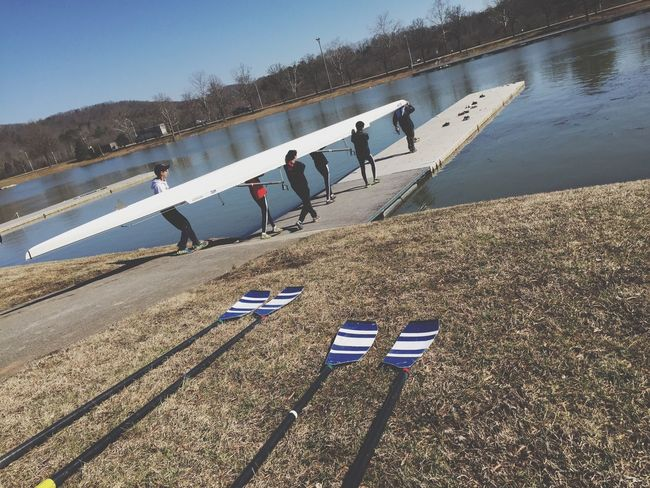 Rowing competition at Melton Lake