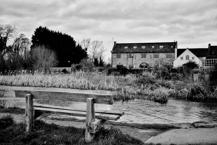 river view Photowalktheworld Canal Canals And Waterways Blackandwhite Cotswolds Countryside Sky Architecture Building Exterior Built Structure Farmland Agricultural Field Agricultural Building Farmhouse Farm Agriculture