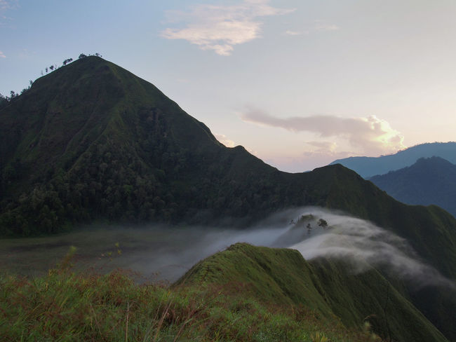 the mist runs Mountain Sky Beauty In Nature Water Scenics - Nature Nature Environment Tranquility Tranquil Scene Cloud - Sky Mountain Range Landscape No People Land Plant Non-urban Scene Outdoors Idyllic Remote Mountain Peak Flowing Water Flowing