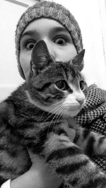 Love my cat 💕 Cat Kitten 🐱 Love Your Cat❤️ Black & White Beautiful Animals  ❤️💕❤️