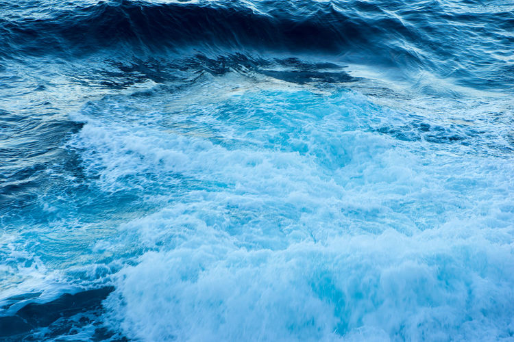 Close-up of waves in sea