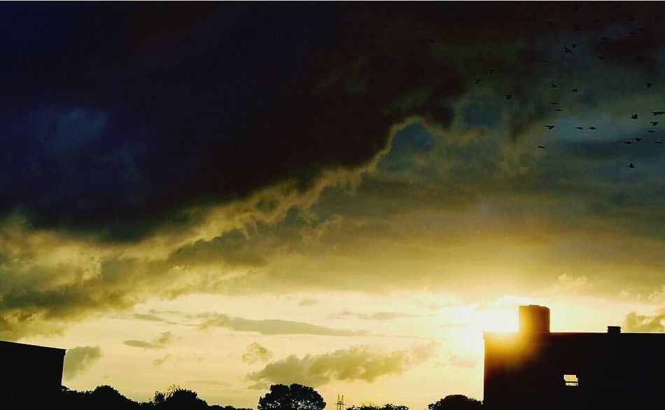 Dramatic Sky Sunset Storm Cloud Weather Cloud - Sky No People Outdoors Night Nature Sky Silhouette Storm Thunderstorm Rainbow First Eyeem Photo Photographyislife EyeEmNewHere Horizon Over Water Walking On Sunshine Landscape