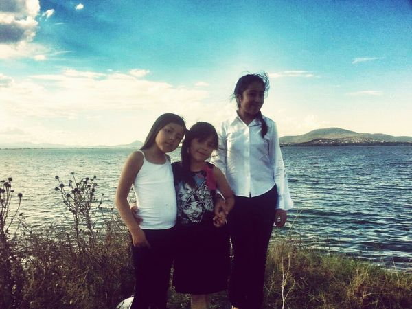 Tarde en familia en la laguna de zumpango con Renata, Maria Fernanda y Allyson!!