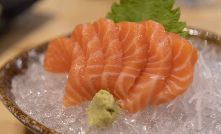 Food Food And Drink Japanese Food Seafood Sashimi  Asian Food Close-up Healthy Eating Wellbeing Freshness Indoors  Meat Raw Food Fish Salmon - Seafood Ready-to-eat Plate Rice No People Caviar Dinner Crockery