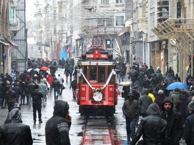 Istanbul Turkey Istiklalstreet Istiklalcaddesi Tramway Taksim Peoplephotography Taksimbeyoglu Taksim Istiklal Istanbul City Istanbullife