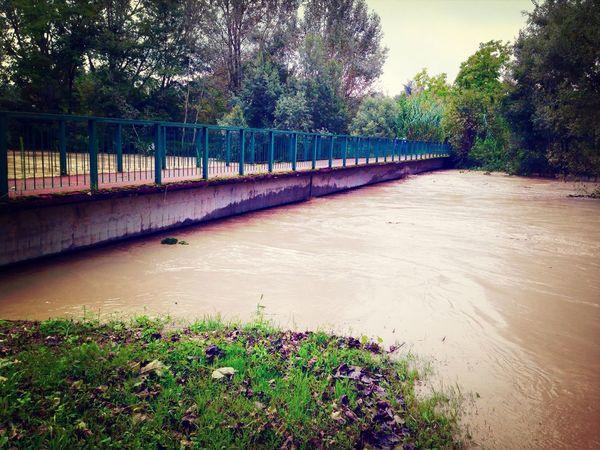 Flood River Bridge Water