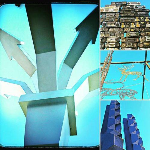 It was a blue day, but the happy kind. Minnesota Franconiasculpturepark Blue Sculpture Art