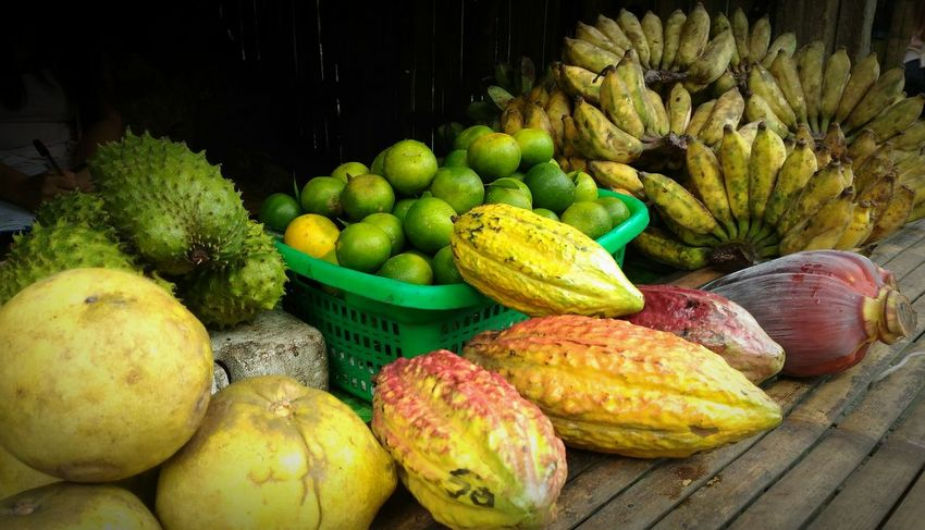 For Sale Fruits Fruits Lover Fruits Photography Stall Display Close Up Guyabano Bananas Pomelo DaLandan Cacao Fruit Rodriguez, Rizal Philippines