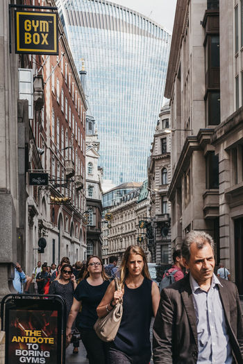 9 To 5 After Work City Life City Of London Commuting Financial District  London Adult Architecture Building Exterior City City Life Commuters Corporate Business Corporate Employees Day Front View Group Of People Lifestyles People Real People Street Uk Walking