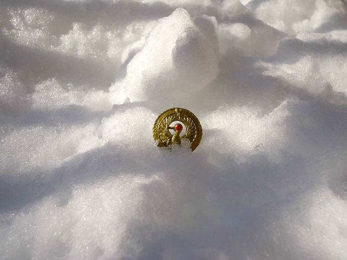 """""""My Medallion!"""" Raiders Of The Lost Ark Close-up Day Indiana Jones Medallion Nature No People Object Outdoors Snow Toy Photography White Color Winter"""