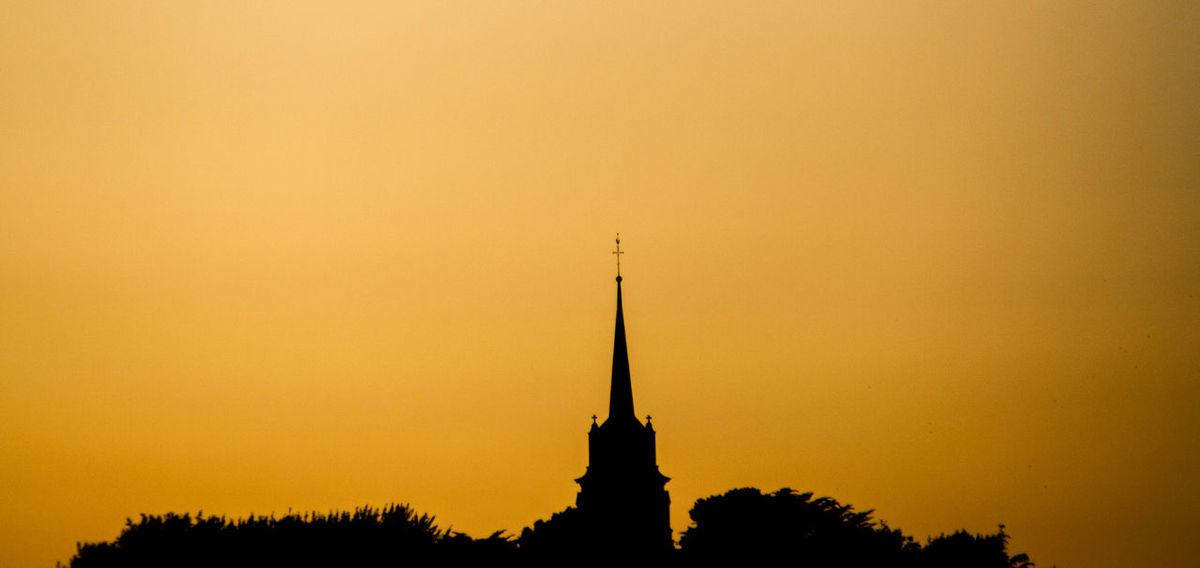 Architecture Church Orange Color Scenics Silhouette Sky Sunset Trees