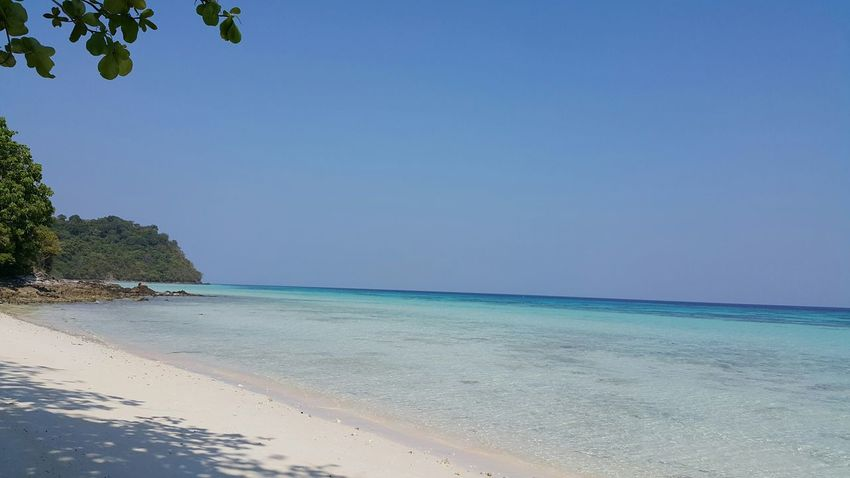 Summer Views Koh Rok Thailand Happy Time Relax Beautiful Nature Sea And Sky Enjoying Life