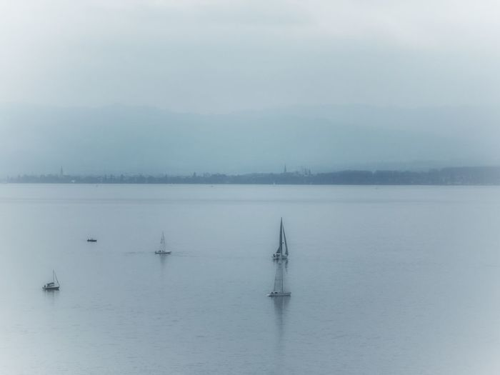 Art Is Everywhere Lake Outdoors Water Nature Tranquility Reflection Scenics Day Sky Bodensee Lake