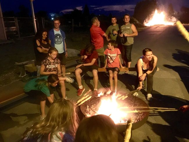 Sonnwendfeier Night Large Group Of People Flame Burning Real People Leisure Activity Illuminated Fun Outdoors Young Adult People Adult EyeEmNewHere