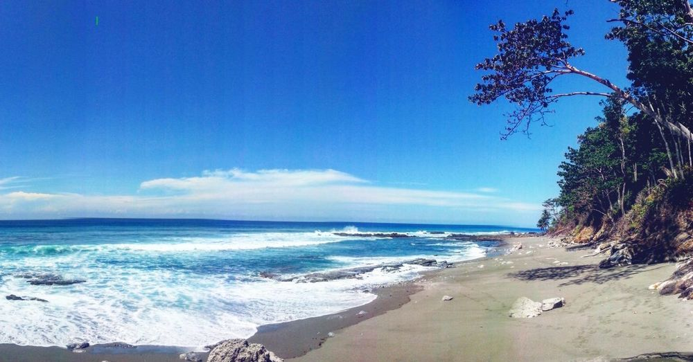 Cabo Matapalo Costa Rica Beach Cabomatapalo Peninsuladeosa Costarica Sea Sand Wave Nature Tree Sky Blue Beauty In Nature Scenics Travel Destinations Water Horizon Over Water Cloud - Sky Outdoors Day Vacations No People Landscape Beauty First Eyeem Photo
