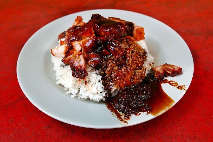 Char Siew & Roast Pork Rice Sgfood Foodporn Lunch Singapore Hawker Food The Foodie - 2015 EyeEm Awards Food Porn Awards