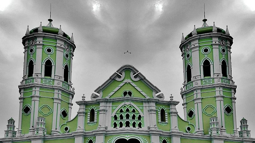 Mi tierra Home City Iglesia Ocaña Green Color Colorful Infrastructure Photography