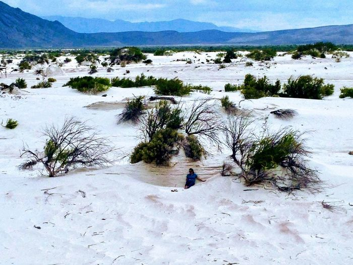 Dunas De Yeso Dunes Dunas Mountain Nature Real People Day Lifestyles Plant Beauty In Nature Tranquility Tranquil Scene Scenics - Nature Outdoors High Angle View Non-urban Scene
