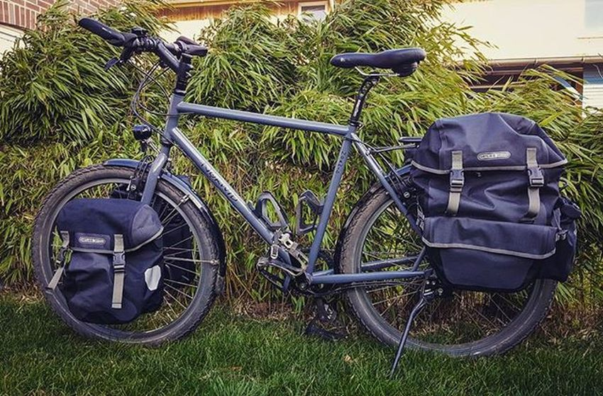 Black is the new beauty! My new Orlieb panniers: Sport-Packer Plus in front, Back-Packer Plus in rear. My Christmas present to myself. 🎄 Next week-end I will inaugurate them with a 3 days winter camping trip. ⛺ Ortlieb Norwid Rohloff Magura Norwidgotland Cycling Fahrrad Fahrradtour Biketouring Biketour 😚 Picoftheday Instamood Instabike New Yuhu 😚 Happy Touring Travel Travelbike Reiserad Radtour
