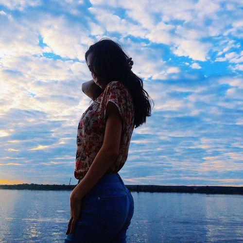 Cloud - Sky Sky Water Sea Women Young Women Beauty In Nature Nature