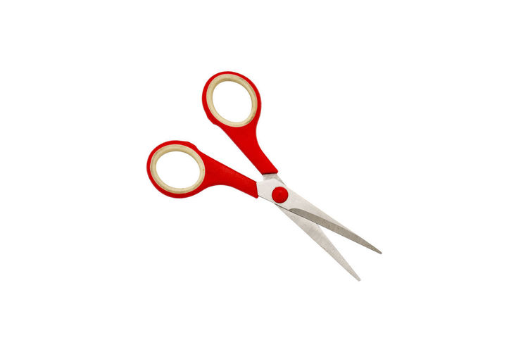 Studio Shot White Background Indoors  Copy Space No People Close-up Still Life Work Tool Red Metal Single Object Cut Out Scissors Sharp Equipment Shape Tool Hand Tool Design Weapon