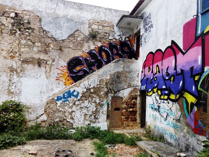 Graffiti Wall - Building Feature Street Art Art And Craft Architecture Built Structure Spray Paint Outdoors Day Building Exterior Multi Colored No People Ruins Architecture Ruins House Ruined Castle Ruined Building Ruined Old Ruin Ruins_photography Ruin Ruins Of A Past Ruins Still Beautiful Ruined Buildings Ruines Ruinas
