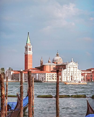 When i was in venice Architecture Built Structure Building Exterior Water Canal Sky Waterfront Cultures Religion Outdoors City Cloud - Sky Place Of Worship Dome Sculpture No People Day Venice, Italy Venecia
