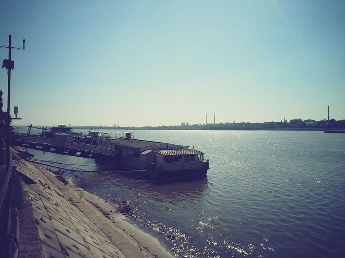 Sailing across the Danube...