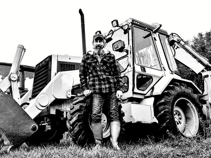 One Man And His Tractor Tractor Farm Farm Worker Me Man Jeans Wellington Boots Gum Boots