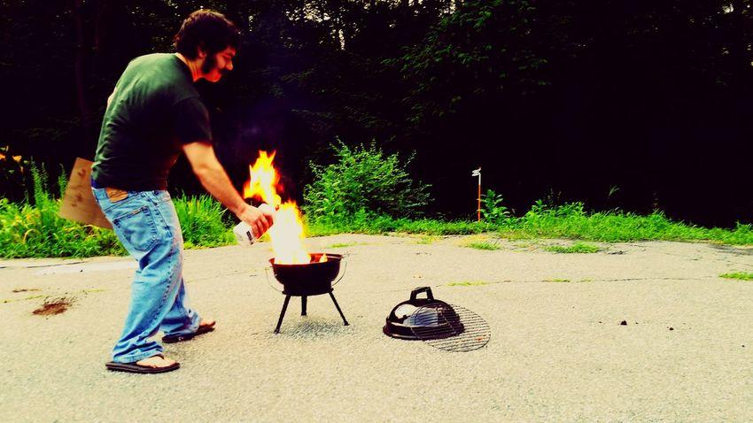 Grilling Moustache Flames