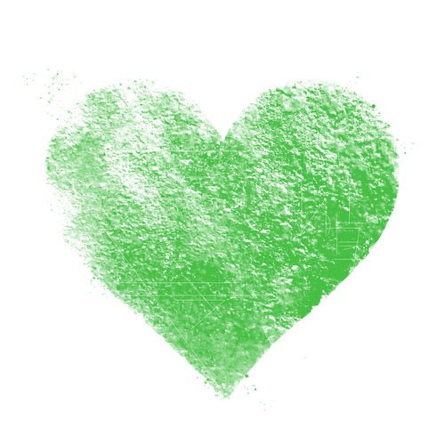 Close-up of heart shape against white background