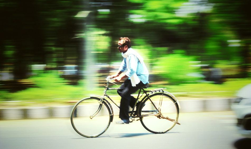 Panning Daily Life Cycle Man Dailywork Canon1200d Canonphotography