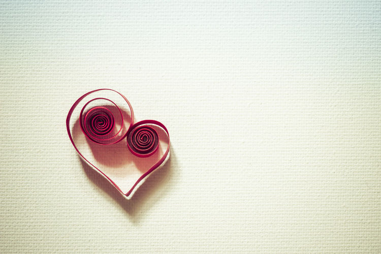heart Copy Space Love Quilling Art Card Close-up Copy Space Day Flower Greeting Card  Heart Heart Shape Indoors  Love Love Letter No People Paper Paper Art Quilling Quilling Paper Quilling Paper Art Quillingart Quillingcard Red Romance Table