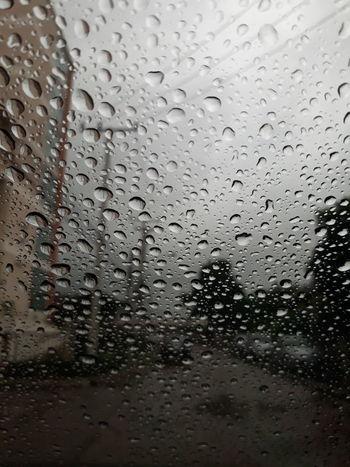 After rain drops dew on the car glass Water Backgrounds Full Frame RainDrop Drop Wet Window Car Condensation Car Wash Rainfall Rain