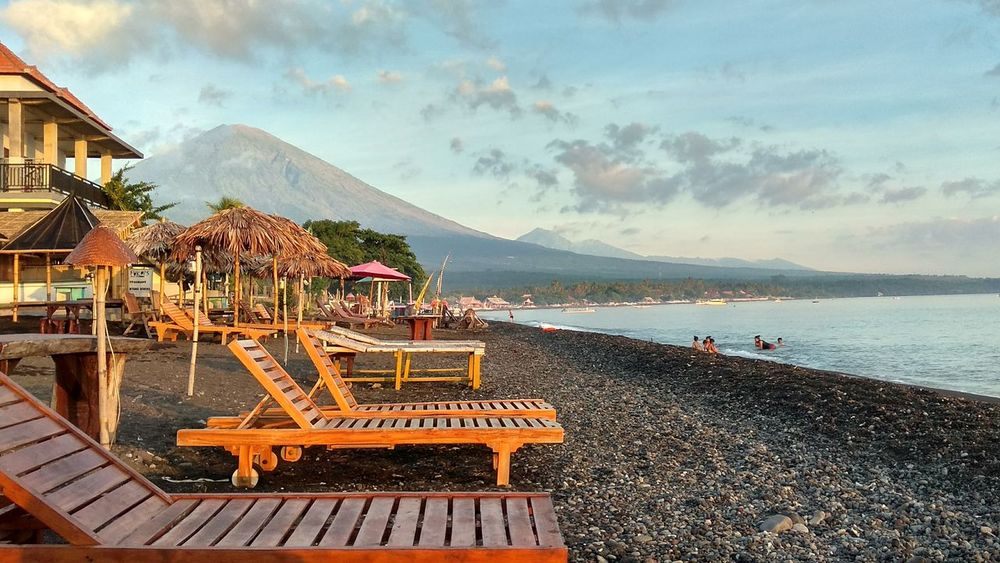Beach Sea Sand Vacations Nature Horizon Over Water Xiaomiphotography Sunrise Travel Travel Destinations Bali, Indonesia Bali Vulcano
