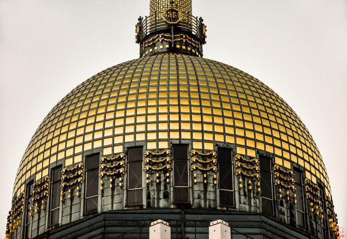 the gold dome 43 Golden Moments Architectural Feature Architecture Built Structure Capital Cities  Chiesa Allo Steinhof City Culture Cupola Day Design Dome Famous Place Gold Cupola International Landmark Low Angle View Modern No People Ornate Outdoors Sky Steinhof Tall - High Tourism Travel Destinations